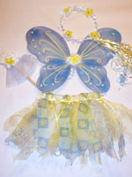 Yellow and Blue Flowers Fairy