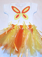 Painted Orange and Yellow Butterfly