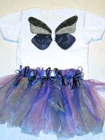 Shades of Purple Fabric Butterfly