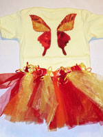 Fall Colored Fabric Butterfly v2