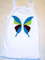 Painted Blue, Brown and Green Butterfly