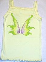 Painted Yellow, Green and Purple Pixie
