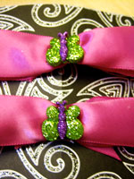 Green and Purple Butterfly Bows