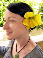 Large Yellow Flower Alligator Clip
